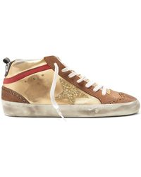 11bfe8866b1a7 Golden Goose Deluxe Brand - Midstar Leather And Suede Trainers - Lyst