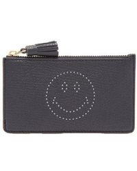 Anya Hindmarch - Smiley Leather Cardholder - Lyst