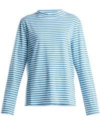 M.i.h Jeans - Emelie Striped Cotton Top - Lyst