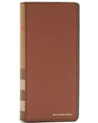 Burberry - House-check Bi-fold Leather Wallet - Lyst