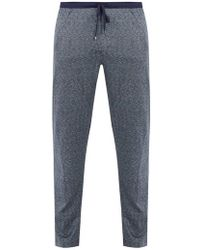 Zimmerli - Jacquard Cotton And Silk-blend Jersey Trousers - Lyst