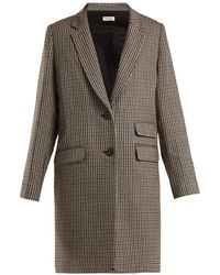 MASSCOB - Brigitte Checked Wool Coat - Lyst