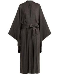 Norma Kamali - Wrap Jersey Robe - Lyst