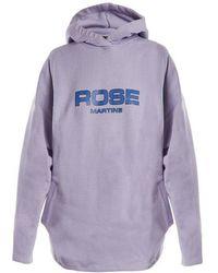 Martine Rose - Logo-print Oversized Hooded Cotton Sweatshirt - Lyst