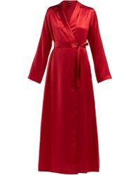 La Perla - Lunga Silk Satin Robe - Lyst