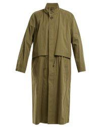 Chimala - High-neck Cotton-blend Coat - Lyst
