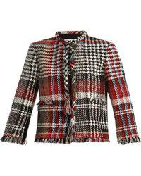 Oscar de la Renta - Fringed Cotton-blend Tweed Jacket - Lyst