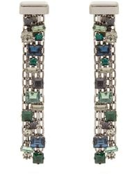 Lanvin - Crystal-drop Clip On Earrings - Lyst