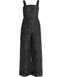 Diane von Furstenberg - Printed Cotton And Silk-blend Jumpsuit - Lyst