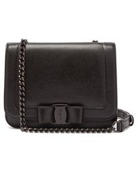 Ferragamo - Vara Leather Cross Body Bag - Lyst