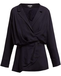 Jacquemus Sisco Double Breasted Twill Blazer Dress