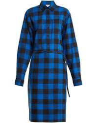 Vetements - Tie-waist Checked Cotton-flannel Shirtdress - Lyst