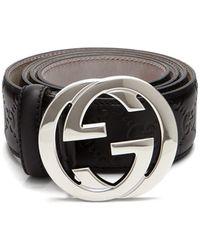 6e1eb8462de Lyst - Gucci Belts - Men s Leather Belts Online Sale