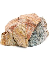 Missoni - Flower Metallic Crochet Knit Turban Hat - Lyst