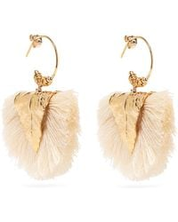 Elise Tsikis - Agia Tasselled Gold Plated Silver Drop Earrings - Lyst
