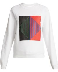 Proenza Schouler - Logo Print Cotton Jersey Sweatshirt - Lyst