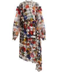 Preen By Thornton Bregazzi - Floral-print Velvet-devoré Dress - Lyst