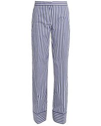 MSGM - Striped Straight Trousers - Lyst