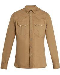 Lanvin - Point-collar Cotton Shirt - Lyst