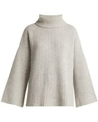 Allude - Roll-neck Cashmere Jumper - Lyst