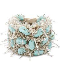 Toga - Bead And Turquoise-embellished Bracelet - Lyst