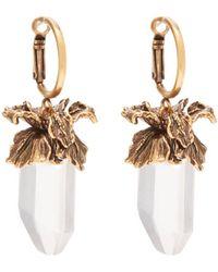 Alexander McQueen - Iris Pendant Drop Earrings - Lyst