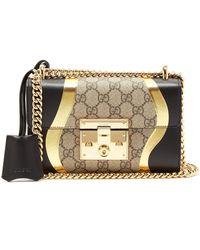 a95c3b59ab8 Gucci - Padlock Gg Supreme Leather Shoulder Bag - Lyst