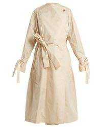 JW Anderson - Oversized High-neck Tie-waist Cotton Trench Coat - Lyst