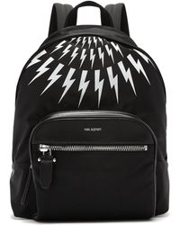Neil Barrett - Fairisle Lightning Bolt Nylon Backpack - Lyst