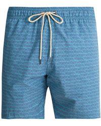 Faherty Brand - Beacon Triangle Print Swim Shorts - Lyst