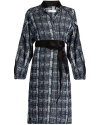 Amanda Wakeley - Tempo Denim-print Shirtdress - Lyst
