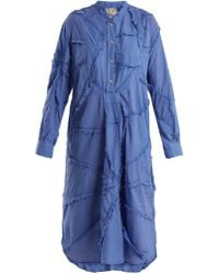 By Walid - Patchwork Cotton Shirtdress - Lyst