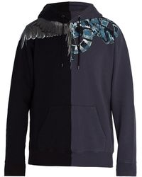 Marcelo Burlon - Wing And Snake Print Cotton Sweatshirt - Lyst