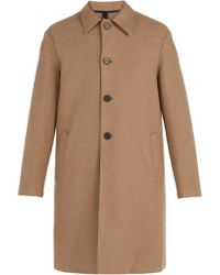 Harris Wharf London - Boiled Wool Overcoat - Lyst
