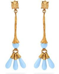 Valentino - Leaf Drop Earrings - Lyst
