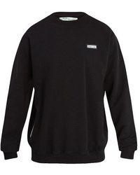 Off-White c/o Virgil Abloh - Crew-neck Cotton-jersey Sweatshirt - Lyst