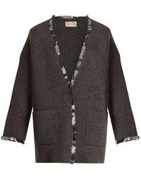 Christopher Kane - Sequin-embellished V-neck Wool-blend Knit Cardigan - Lyst