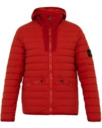 Stone Island - Quilted Down Filled Hooded Coat - Lyst