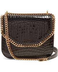 Stella McCartney | Falabella Box Crocodile-effect Cross-body Bag | Lyst