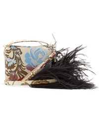 Marques Almeida - Feather Strap Floral Jacquard Cross Body Bag - Lyst 112189a5a2639