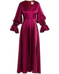 ROKSANDA - Lavonne V Neck Silk Dress - Lyst