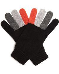 Paul Smith - Tri-colour Wool Gloves - Lyst