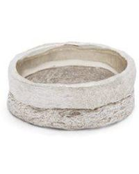 Pearls Before Swine - Double-band Oxidised Sterling-silver Ring - Lyst