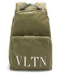 Valentino - Vltn-print Canvas Backpack - Lyst
