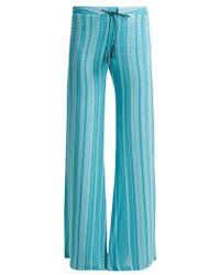 Zeus+Dione - Alcestes Silk-blend Trousers - Lyst