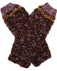Etro - Fingerless Wool Gloves - Lyst
