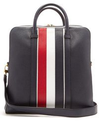 Thom Browne - Tricolour Leather Bag - Lyst