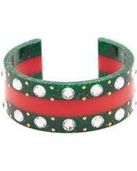 Gucci - Web Crystal-embellished Cuff - Lyst