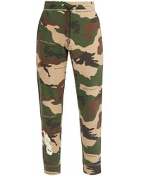 Off-White c/o Virgil Abloh - Camouflage And Logo Print Track Pants - Lyst