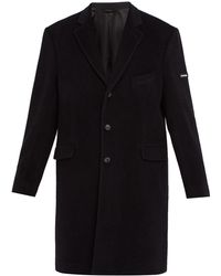 Balenciaga - Single Breasted Wool Blend Coat - Lyst